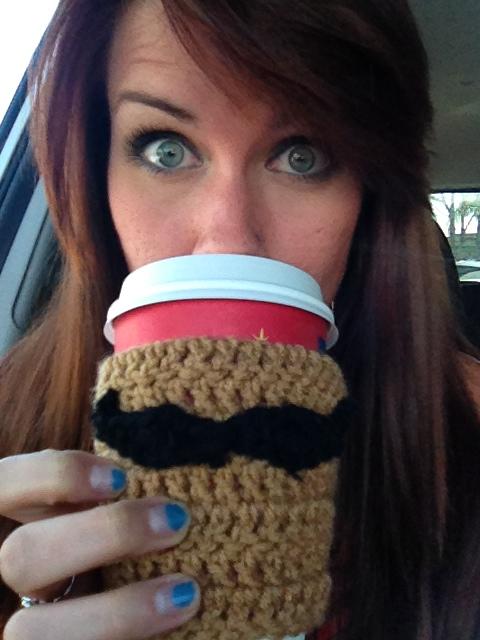 Mustache Koozie