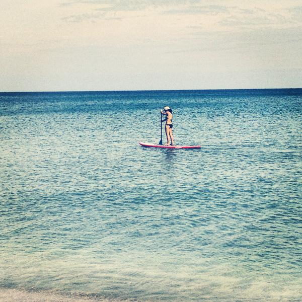 Ocean paddleboarding