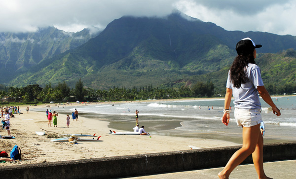 Hanalei Nell Walking Down Pier Last Day 2