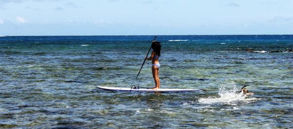 Poipu Nell Paddling Trey Snorkeling