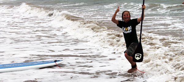 Surfing Trey Thumbs Up