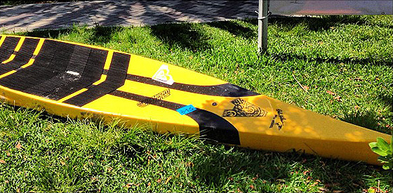 After being in the market for a race board (paddle board) I finally bought one at the local used board sale