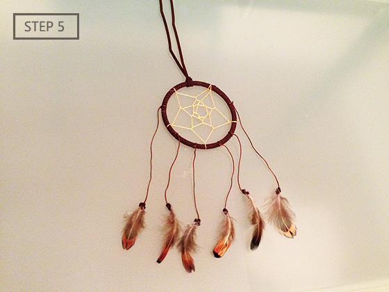How To Make Dream Catcher Necklace DIY Dreamcatcher Necklace Mamanellie 18
