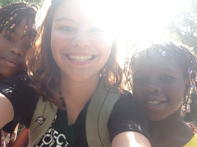 Haiti Mission-D and 2 girls-Sun