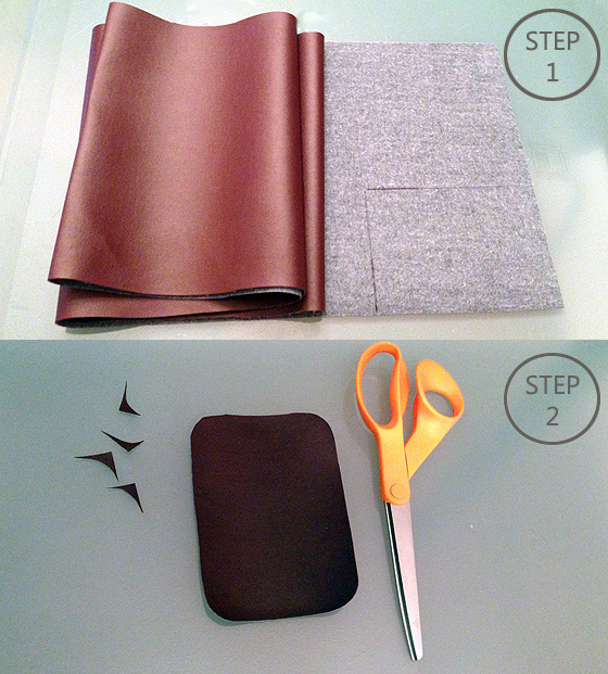DIY Leather Pouch Necklace - Step 1&2 SMALL