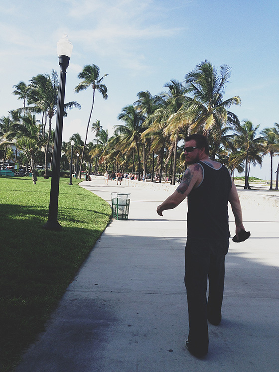 Steve Walking Down South Beach 560