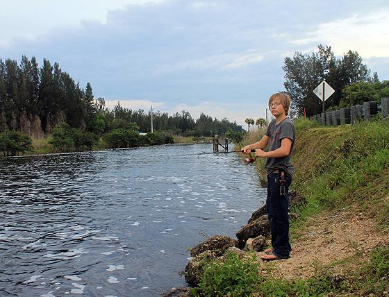 Trey fishing - Photography