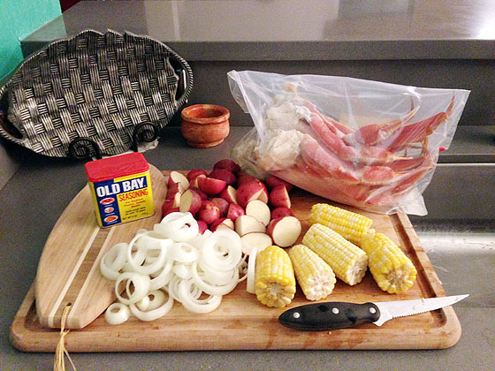 What is a recipe for Louisiana shrimp boil?