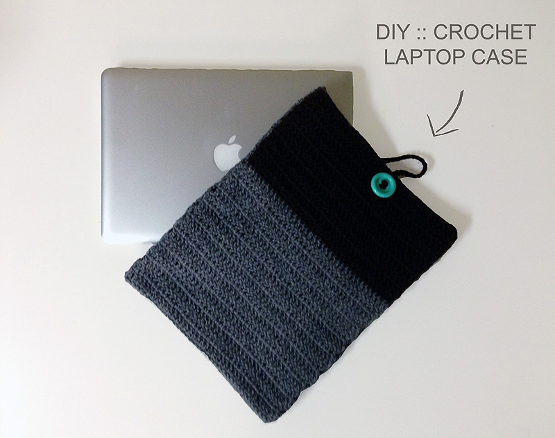 DIY Crochet Laptop Case Complete