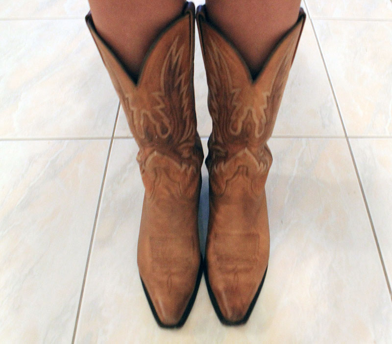 What I Wore - Cowboy Boots Thrifted