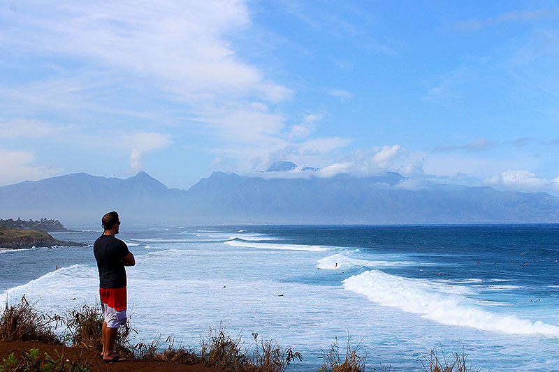 Gazing at Surf on North Shore