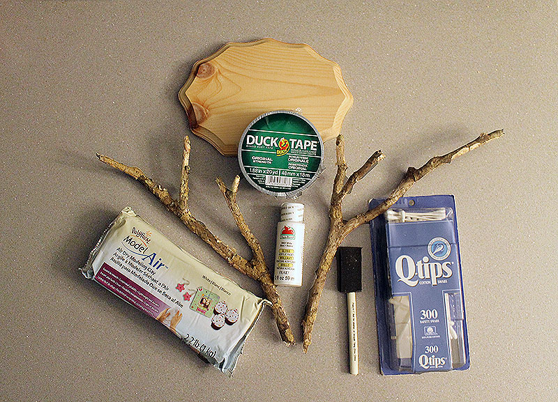 DIY Faux Antlers Supplies