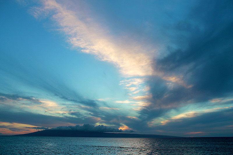 Mountain - Island Sunset in Maui