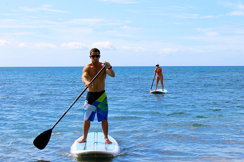 Paddling Up to Beach in Maui