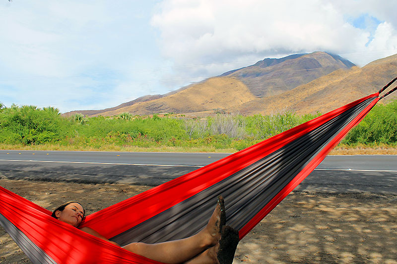 Relaxing in a Hammock in Maui