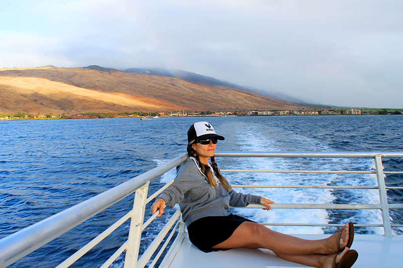 On the Maui Magic boat