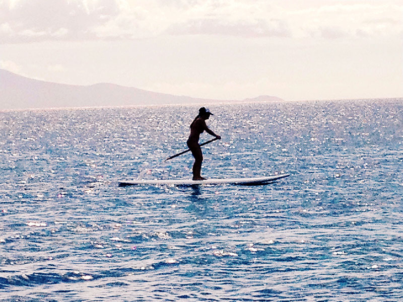 Paddleboarding in Maui