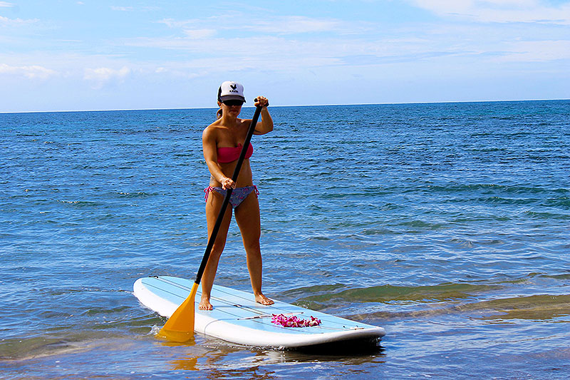 Paddling Up in Maui