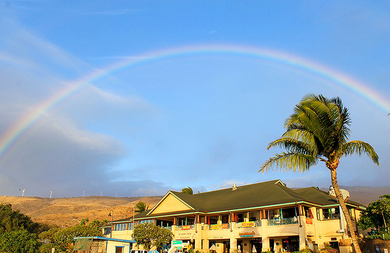 Rainbow before Leaving in Maui