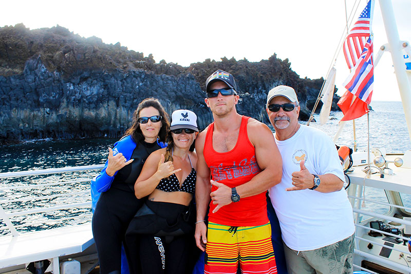 The Fam on the Maui Magic Boat