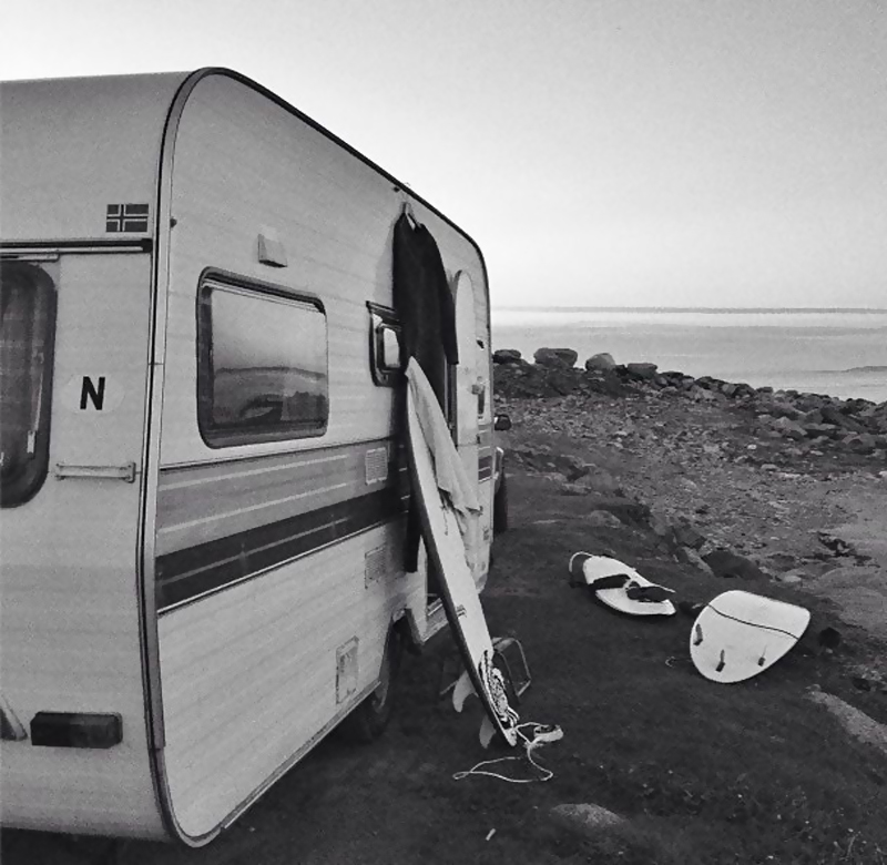 Camper at the Beach