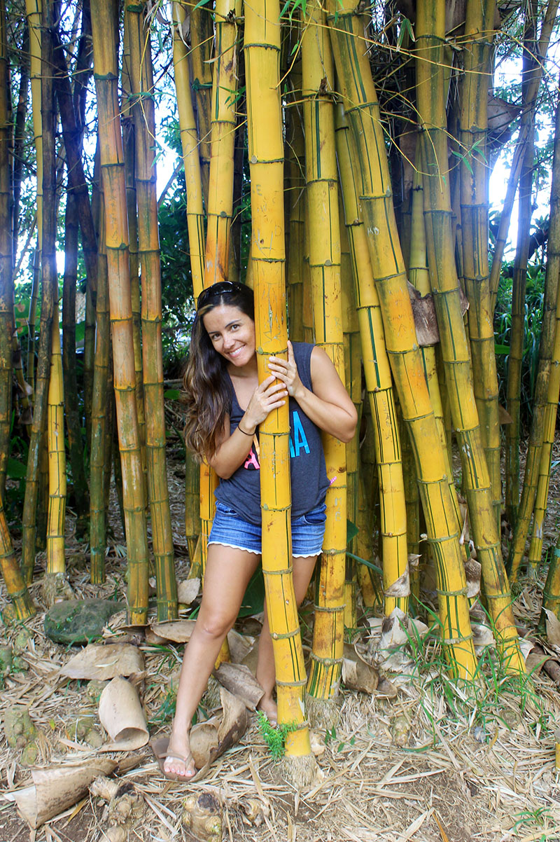 Nell Holding Big Bamboo