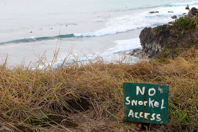 No Snorkel Access Local Surf Spot