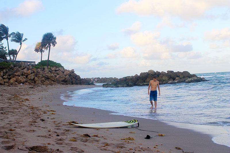 Trey Walking to Surfboard 800