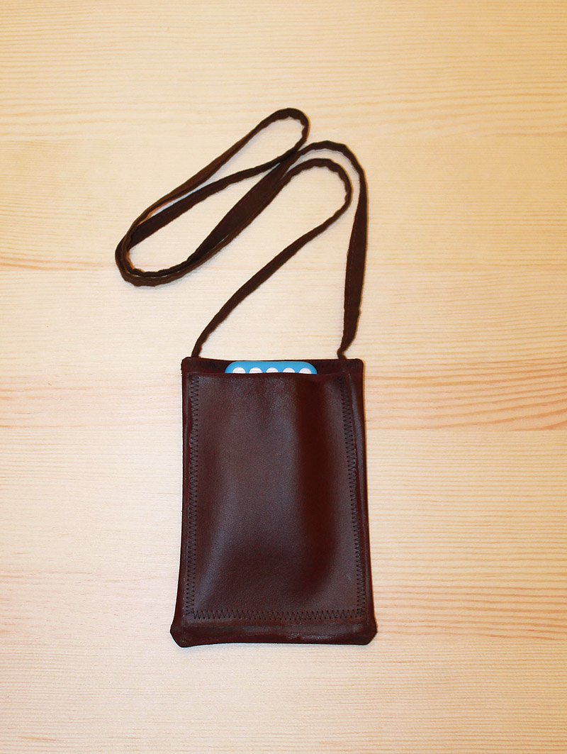 DIY Leather Purse with iPhone