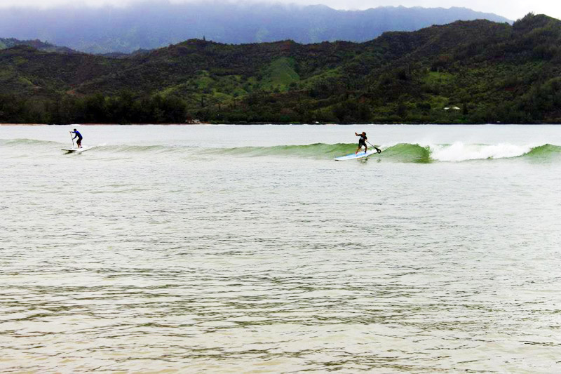 Paddle Surfing Hanalei Bay