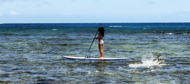 Paddleboarding in Poipu