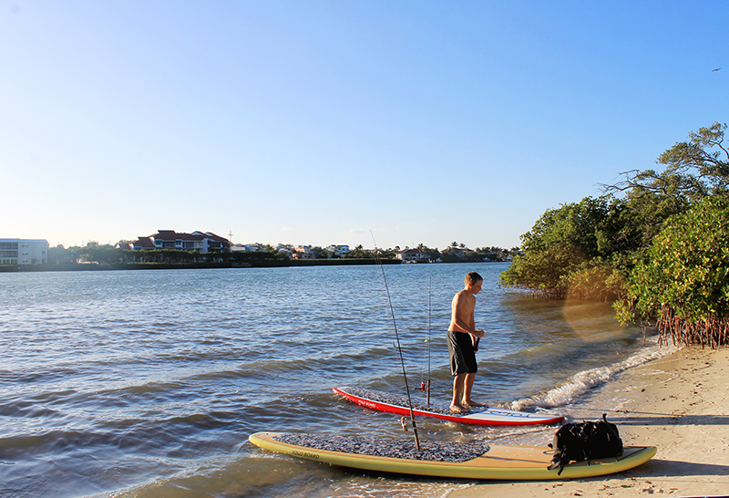 Paddleboard Fishing