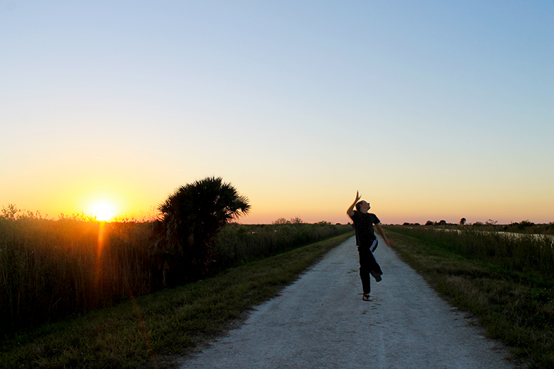 Trey Running in Sunset