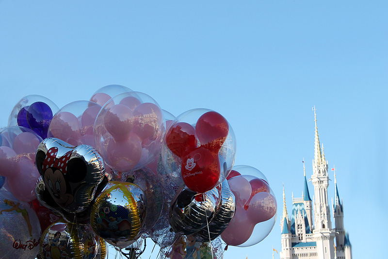 Disney Cinderella Castle Balloon View