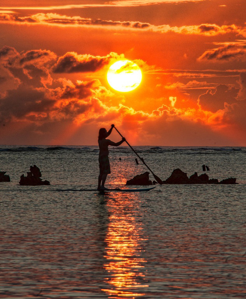 SUP in HI Sunset