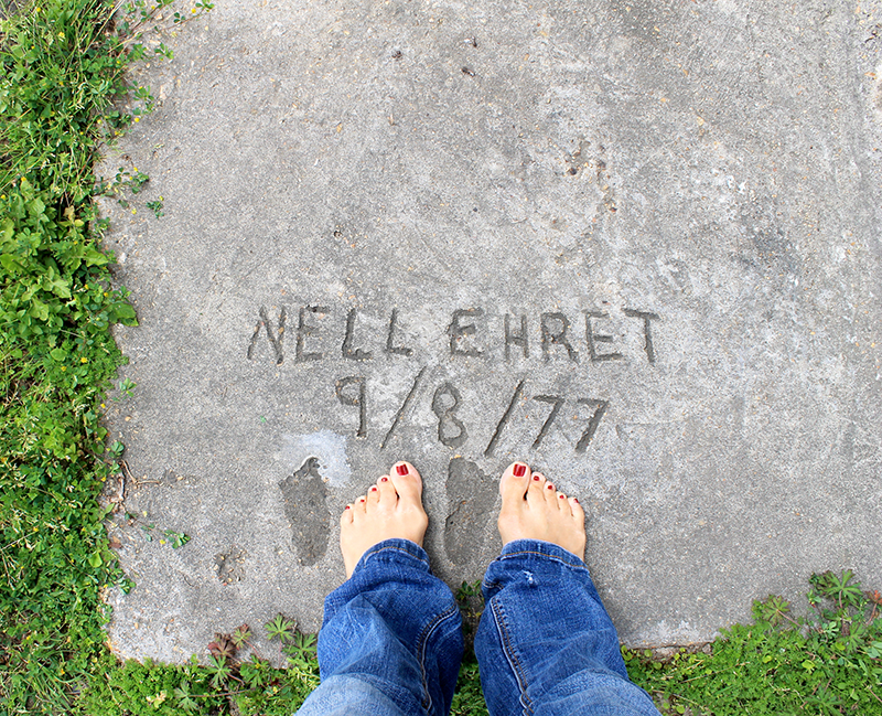 Feet in the Sidewalk at Grannys 800