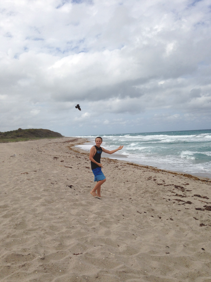 Trey Chasing the Birds