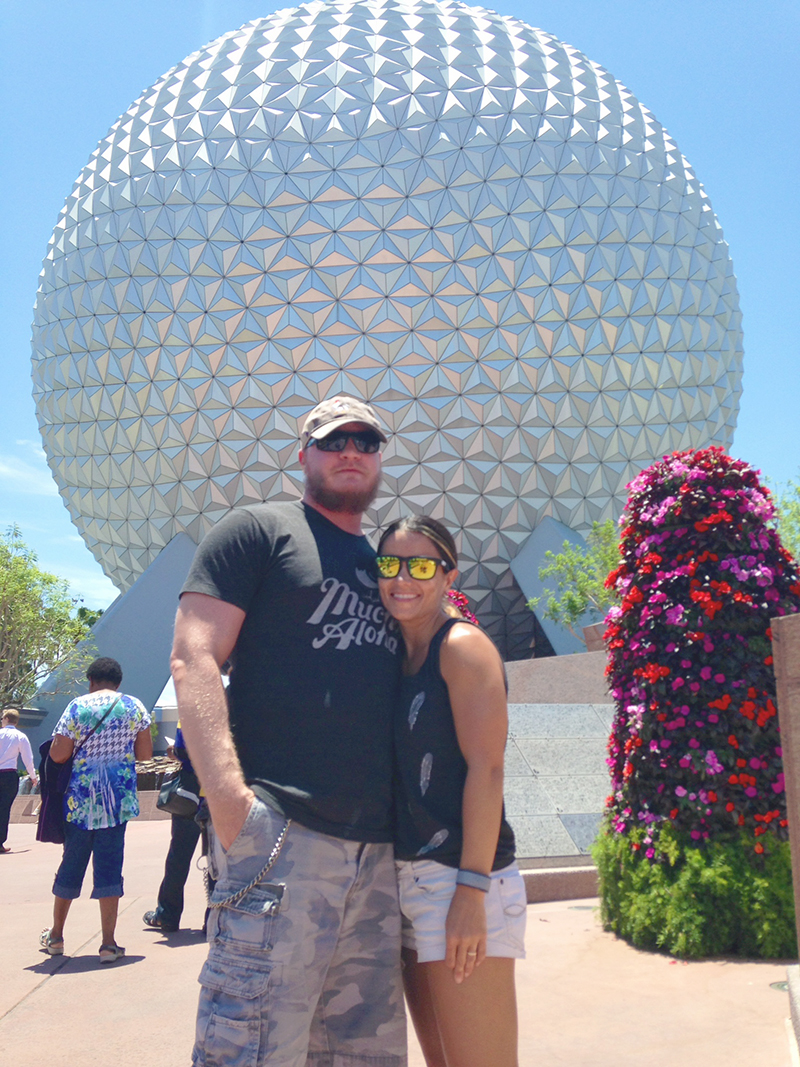 Nell and Steve Epcot Ball
