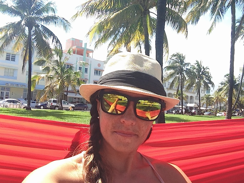 Nell in Hammock on South Beach