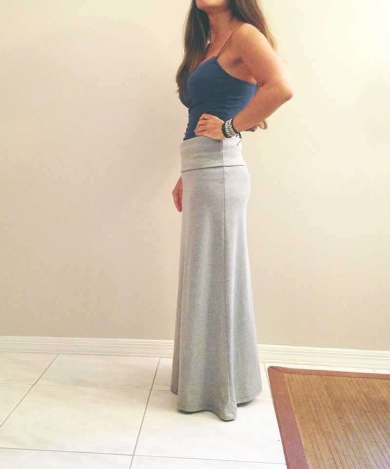 diy 5 maxi skirt mamanellie