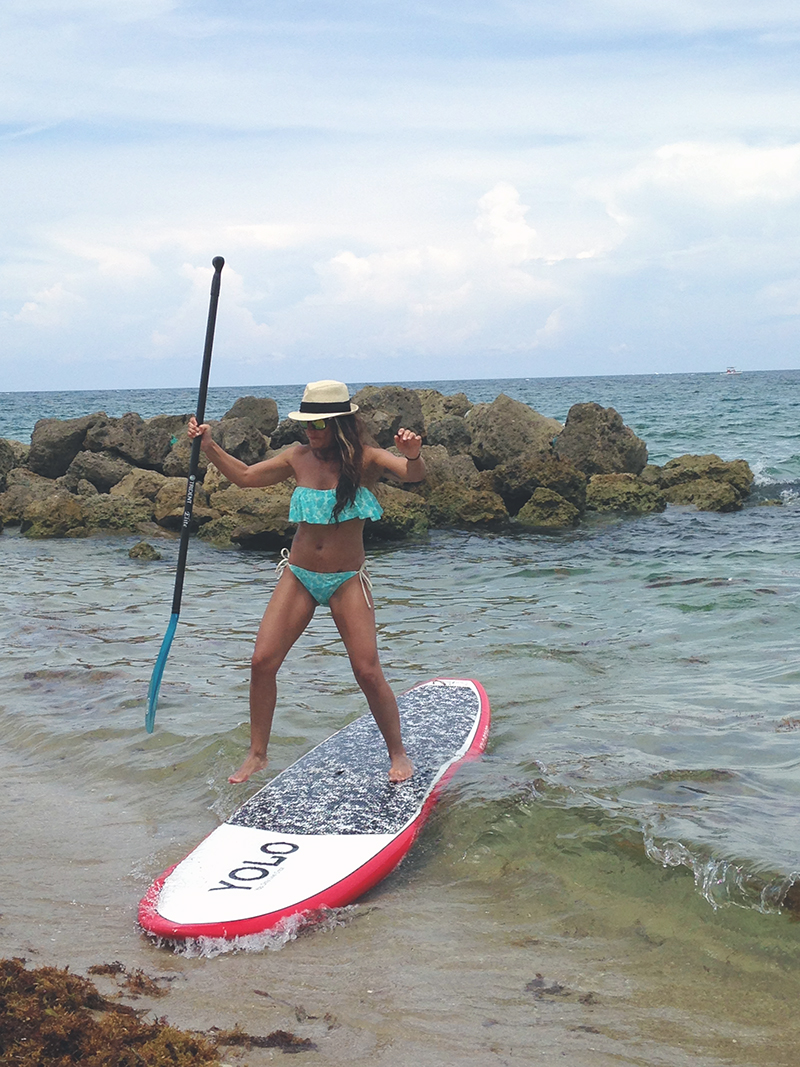 Jumping off Paddleboard