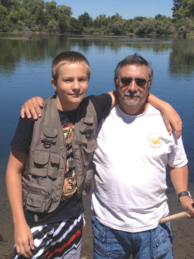 papa and trey fishing