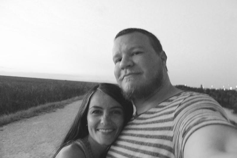 Date Night Selfie B&W