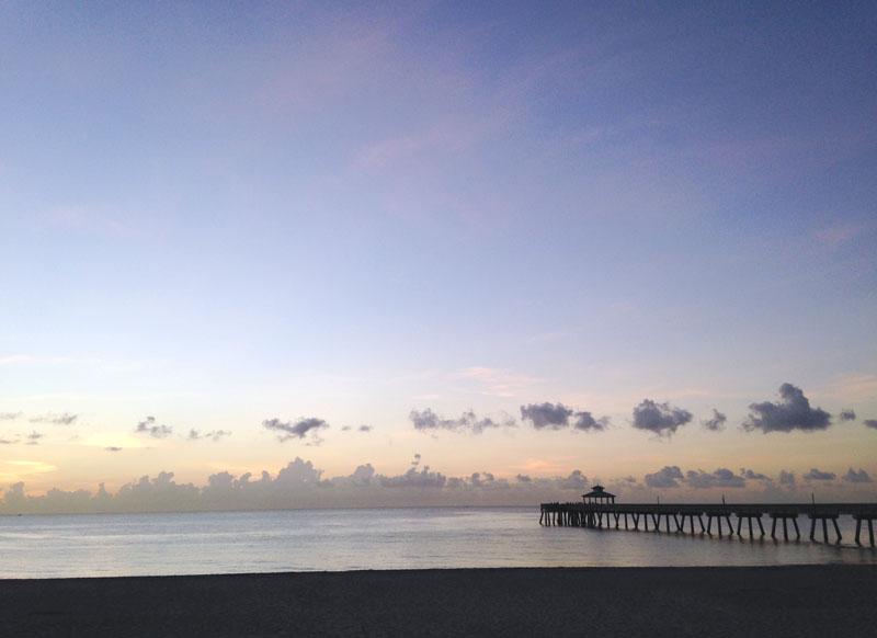 Early Beach Pier View