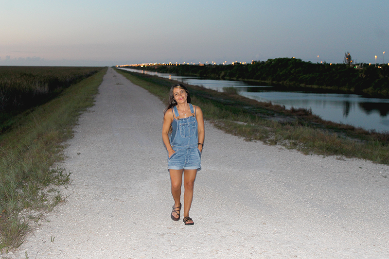 Nell Walking in the Everglades