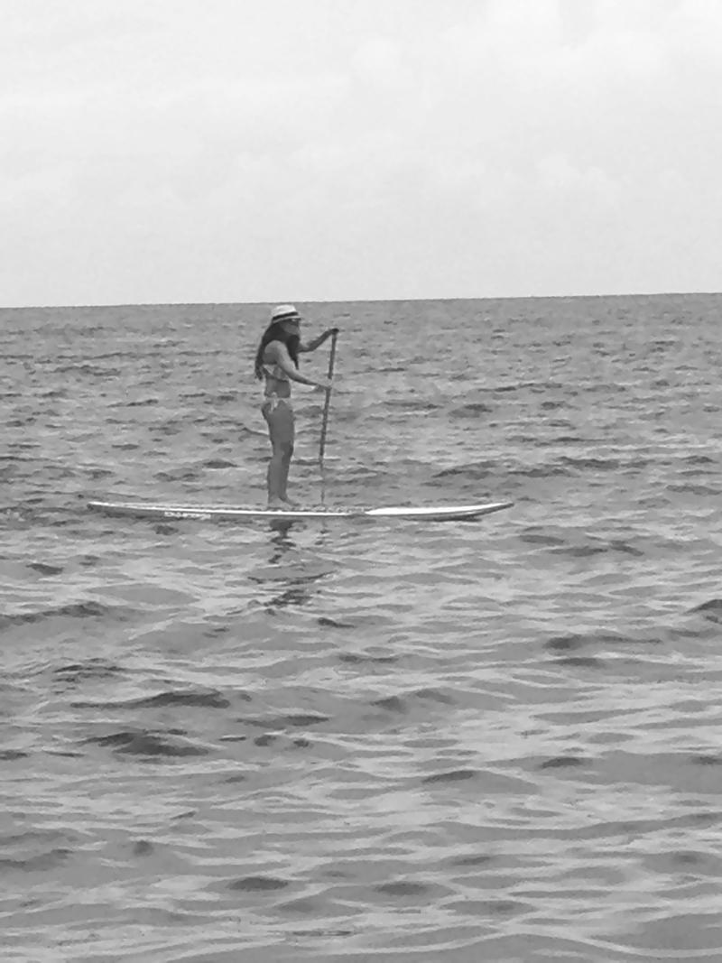 Paddleboarding B&W