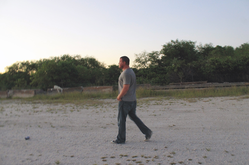 Steve Walking to Everglades