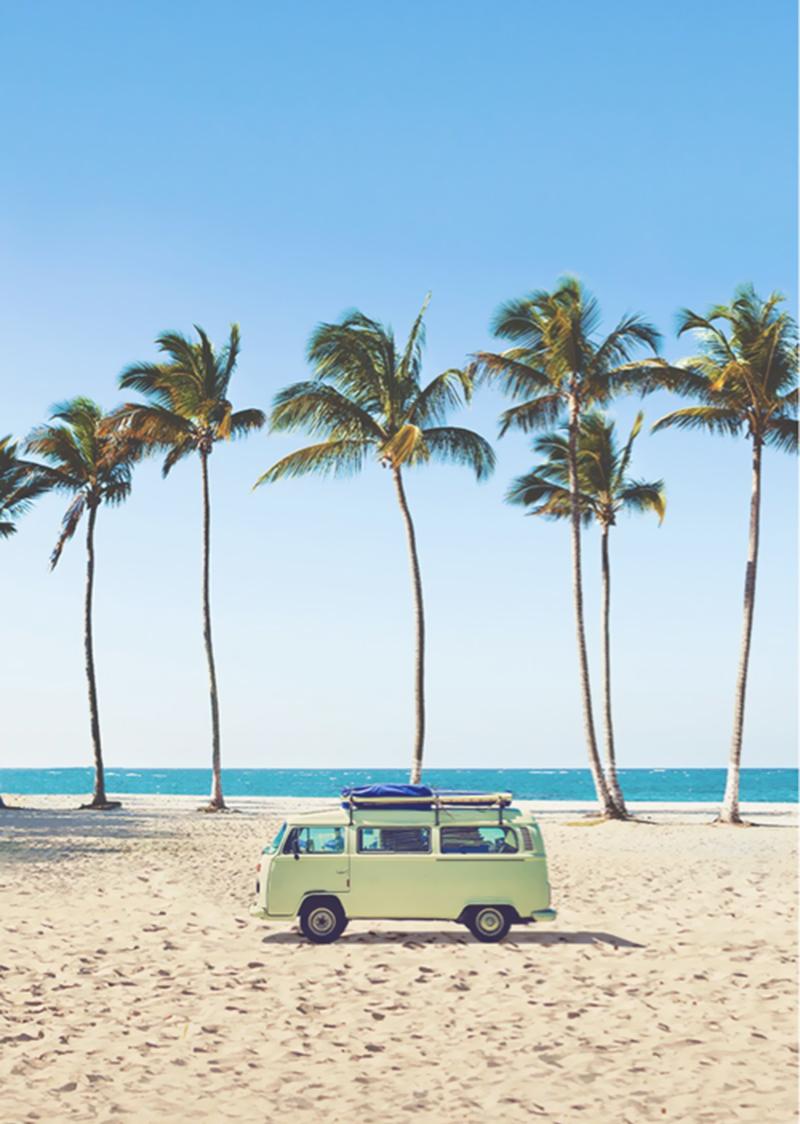 vw van at the beach