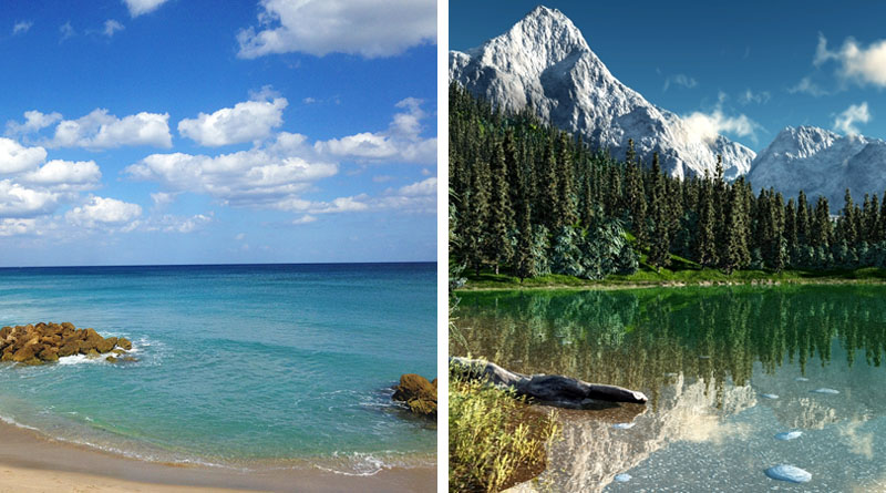 mountains vs beaches vacation Introverts like the mountains, while extroverts like the beach and europeans  they just like vacation work on, americans.