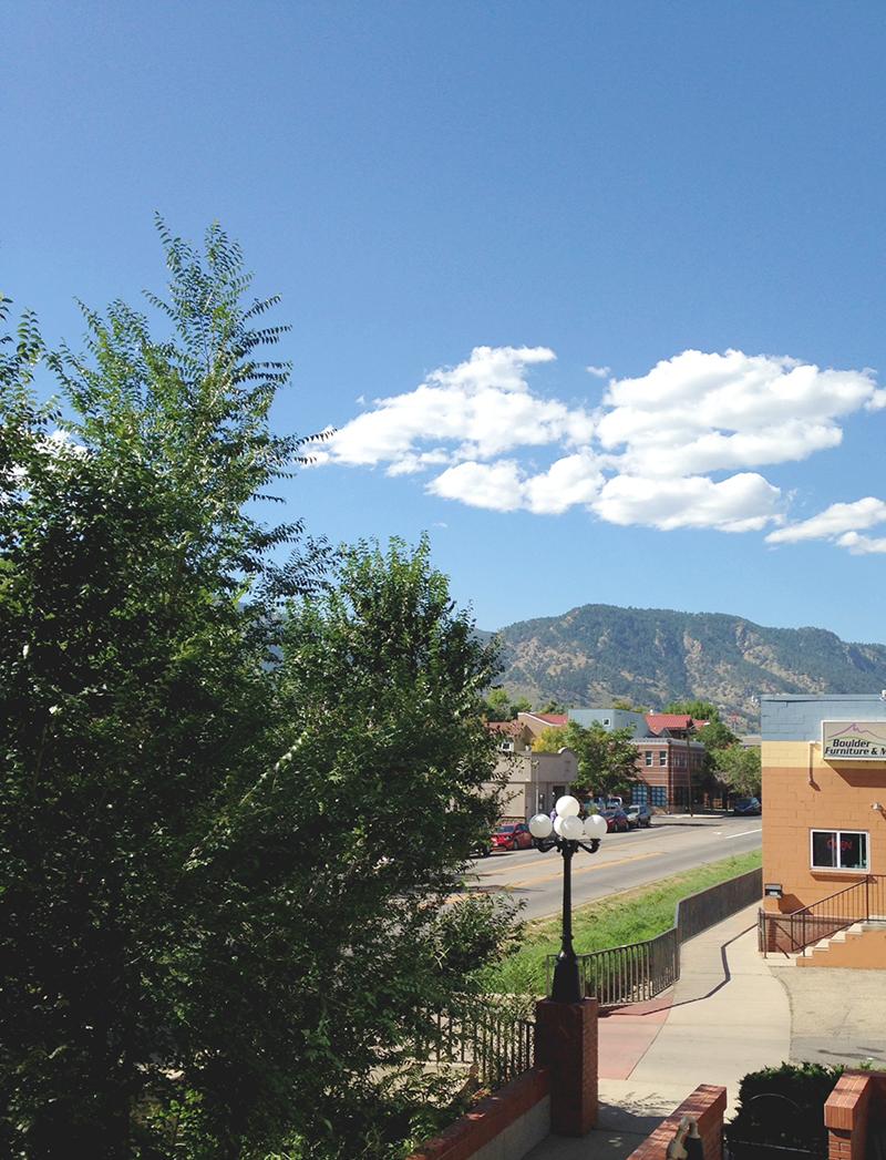 Boulder Apt View